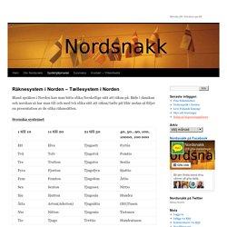 Räknesystem i Norden – Tællesystem i Norden