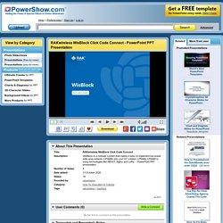 RAKwireless WisBlock Click Code Connect PowerPoint presentation