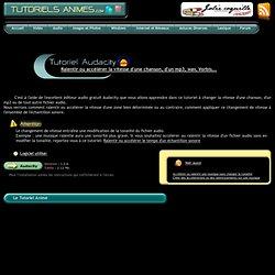 Ralentir ou accélérer un fichier audio, mp3 ou autre avec Audacity