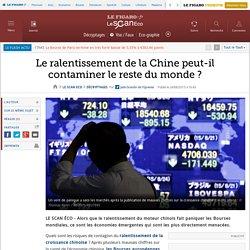 Le ralentissement de la Chine peut-il contaminer le reste du monde ?