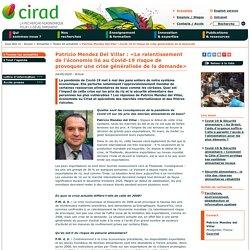 CIRAD 04/05/20 Patricio Mendez Del Villar : «Le ralentissement de l'économie lié au Covid-19 risque de provoquer une crise généralisée de la demande»