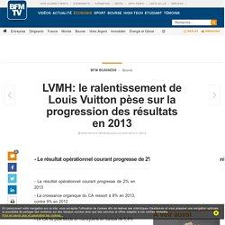 LVMH: le ralentissement de Louis Vuitton pèse sur la progression des résultats en 2013
