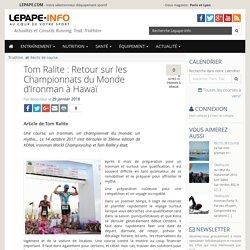 Tom Ralite : Retour sur les Championnats du Monde d'Ironman à Hawaï