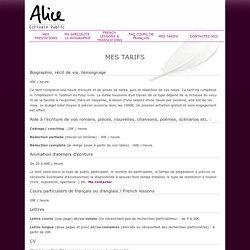 Alice Rallier, écrivain public dans le secteur Valenciennes (59)