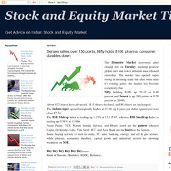 Stock and Equity Market Tips: Sensex rallies over 150 points; Nifty holds 8100, pharma, consumer durables down