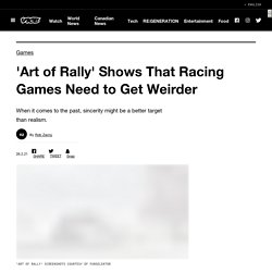 'Art of Rally' Shows That Racing Games Need to Get Weirder