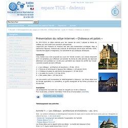 Rallye « Châteaux et palais » - espace TICE - dsden21