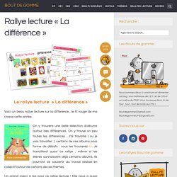 Rallye lecture « La différence »