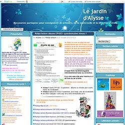 Rallye lecture albums CP/CE1- questionnaires niveau 1