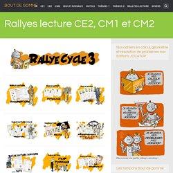 Rallyes lecture CE2, CM1 et CM2