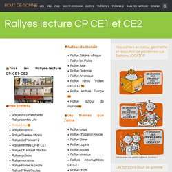 Rallyes lecture CP CE1 et CE2