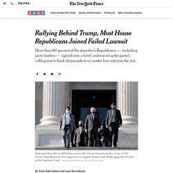 Rallying Behind Trump, Most House Republicans Joined Failed Lawsuit