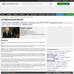 Ralph Lauren - Biographie