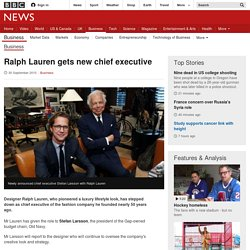 Ralph Lauren gets new chief executive - BBC News