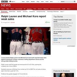 Ralph Lauren and Michael Kors report weak sales
