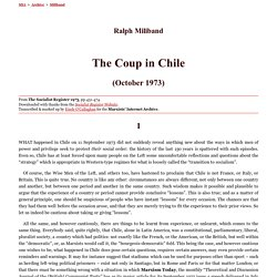 Ralph Miliband: The Coup in Chile (October 1973)