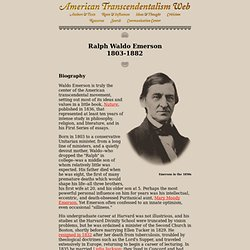 emerson experience essay Ralph waldo emerson men resist the conclusion in the morning, but adopt it as the evening wears on, that temper prevails over everything of time, place, and.