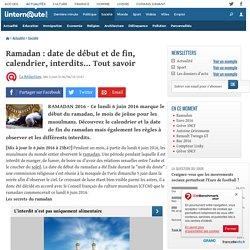 Ramadan: date de début et de fin, calendrier, interdits... Tout savoir