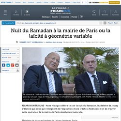 Nuit du Ramadan à la mairie de Paris ou la laïcité à géométrie variable