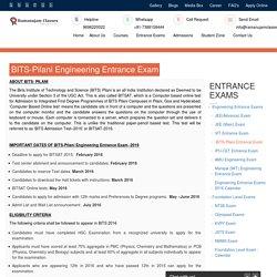 Bits-pilani Engineering Entrance Exam