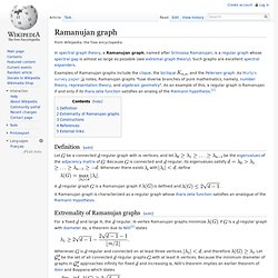 Ramanujan graph