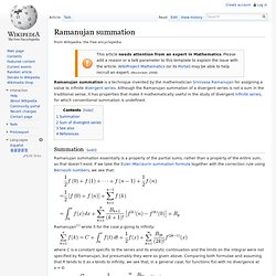 Ramanujan summation