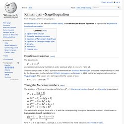 Ramanujan–Nagell equation