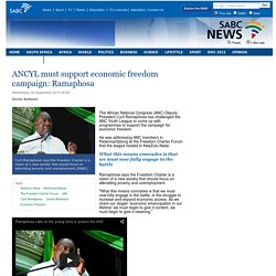 ANCYL must support economic freedom campaign: Ramaphosa:Wednesday 30 September 2015