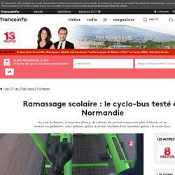 Ramassage scolaire : le cyclo-bus testé en Normandie