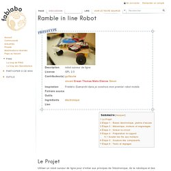Ramble in line Robot