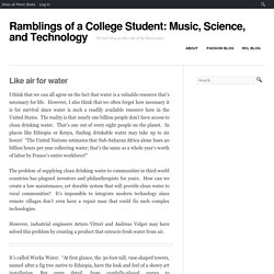 Ramblings of a College Student: Music, Science, and Technology