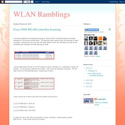 Cisco 5508 WLAN controller licensing