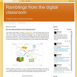 Ramblings from the digital classroom: Do we need another mind mapping tool?
