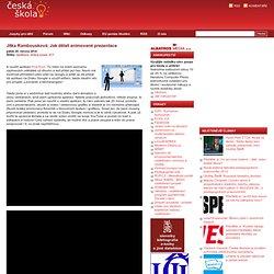 Jitka Rambousková: Jak dělali animované prezentace