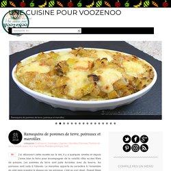 Ramequins de pommes de terre, poireaux et maroilles
