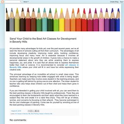Send Your Child to the Best Art Classes for Development in Beverly Hills