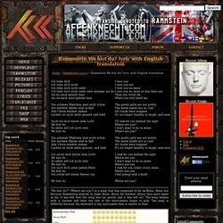 Rammstein Wo bist du? lyric with English translation