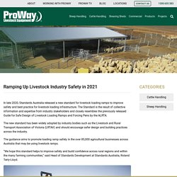 Ramping Up Livestock Industry Safety in 2021 - ProWay