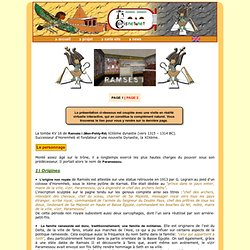 Ramsès 1 ; Ramsès I ; KV16 ; KV 16 ; tombe Égypte