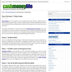 Dave Ramsey's Baby Steps - Financial Peace University
