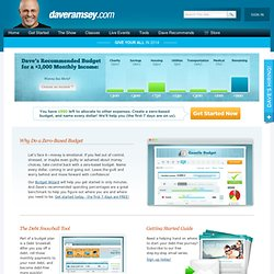 Real Debt Help - Get out of debt with Dave Ramsey's Total Money Makeover Plan
