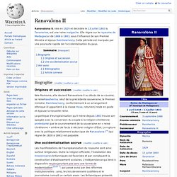 la Reine Ranavalona II règne 1868-1883