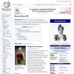 la Reine Ranavalona III règne 1883-1897