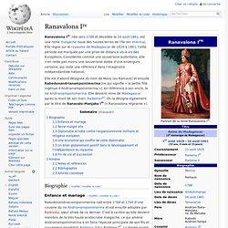 Ranavalona Ire règne de 1828 jusqu'à son décès 1861