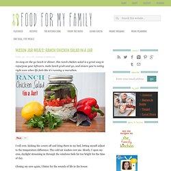 Ranch Chicken Salad in a Jar: Mason Jar Meals