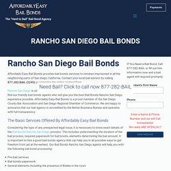 Rancho San Diego Bail bonds