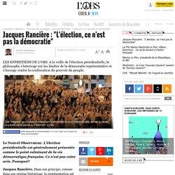 """Jacques Rancière : """"L'élection, ce n'est pas la démocratie"""" - 28 mai 2012 - B..."""