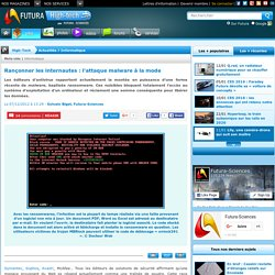 Rançonner les internautes : ransomwares