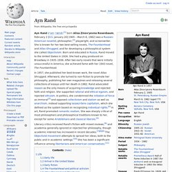 Ayn Rand - philosopher of the Koch Brothers