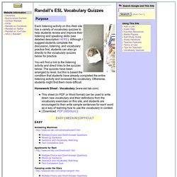 Randall's ESL Vocabulary Quizzes